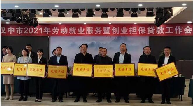 """镇巴县劳动服务局获""""创业担保贷款工作先进单位""""称号"""